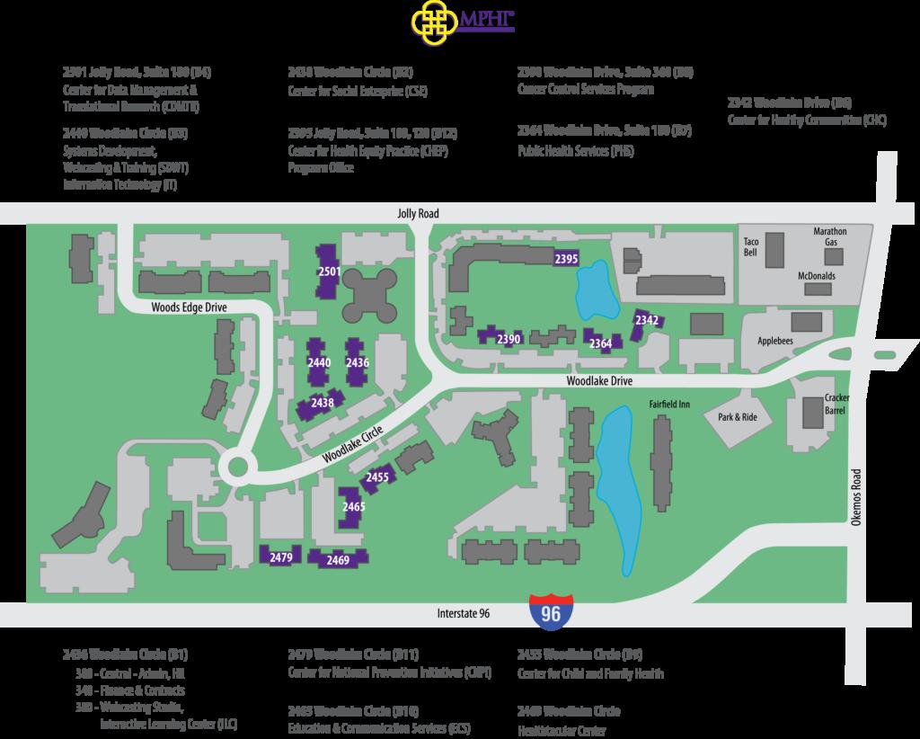 MPHI Campus Map