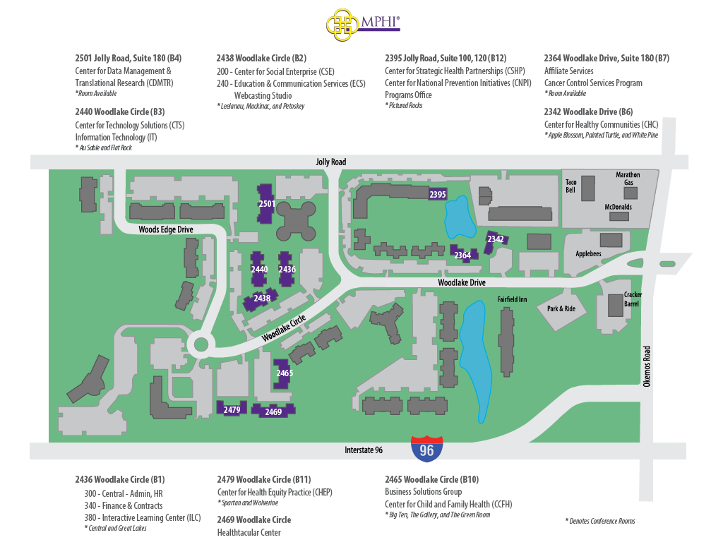 MPHI Campus Map and Conference Rooms