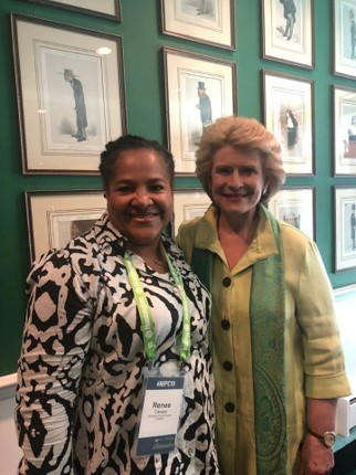 Dr. Canady with Senator Debbie Stabenow.