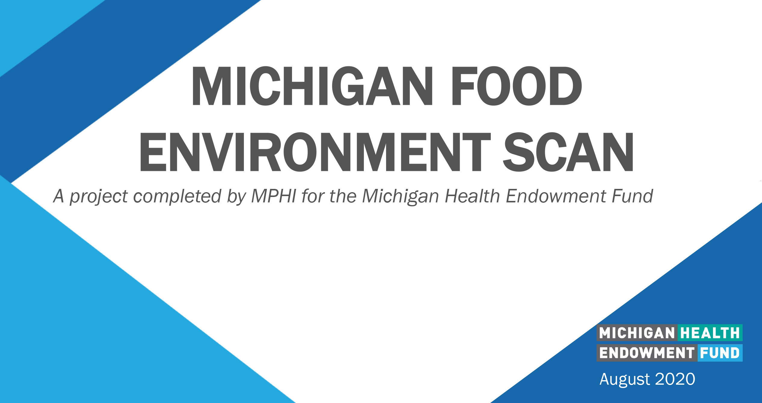 Michigan food environment scan report cover image