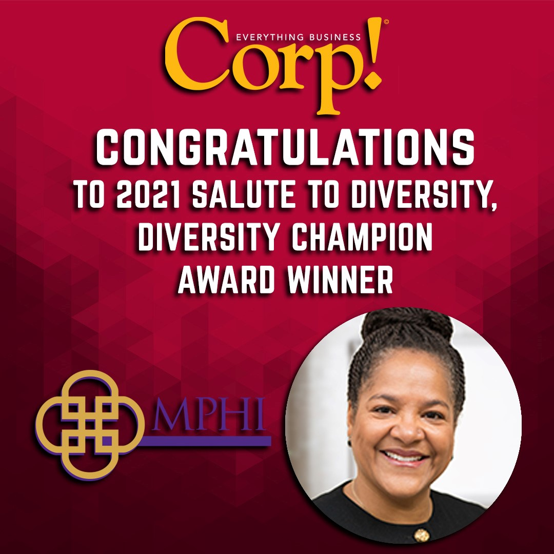 Corp! Congratulations to 2021 Salute to Diversity. Diversity Champion Award Winner
